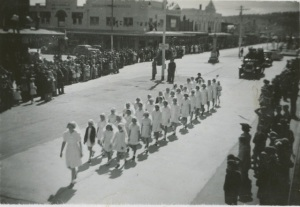 Junior Red Cross Marching in Parade