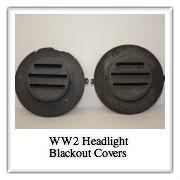 WW2 Headlight Blackout Covers