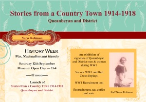Invite for History Week WW1