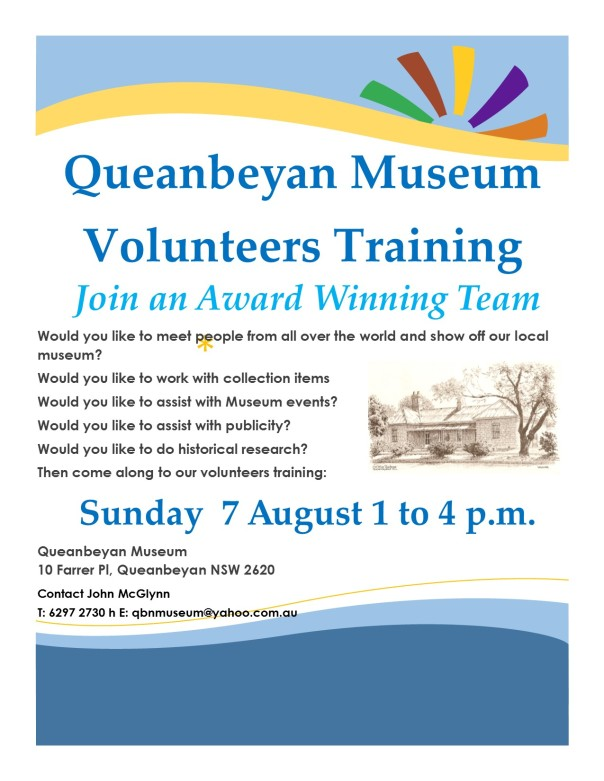 Volunteer Training Flyer August 7 2016