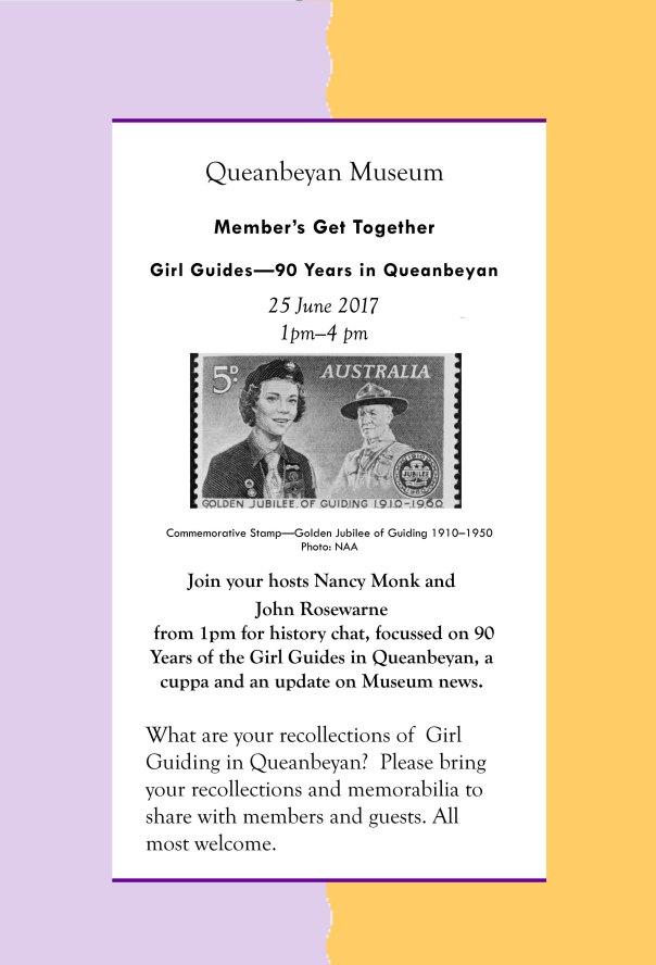 Guides Flyer for 25 June 2017